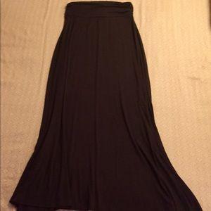 """Merona"" Black Maxi Skirt"